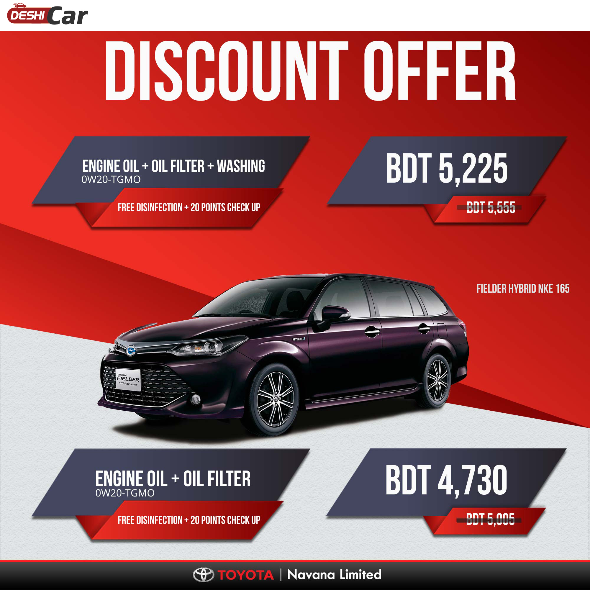 Toyota is Giving Service Discount Offer